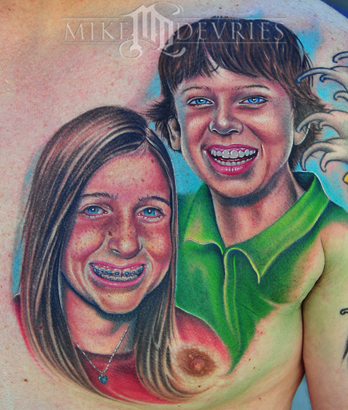 Mike DeVries - Kids Portrait Tattoos
