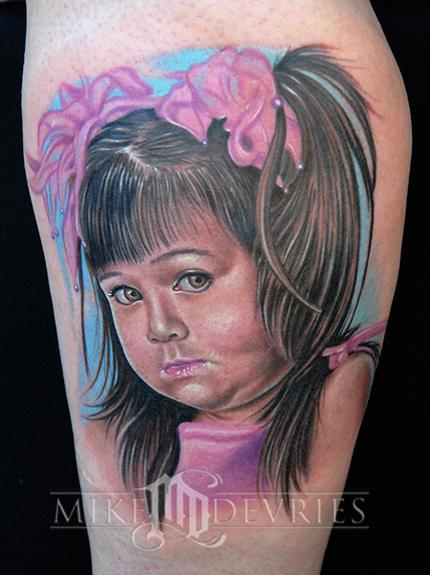 Tattoos - Little girl Portrait - 23756