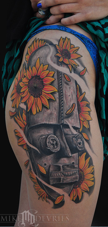 Tattoos - African Mask - 69186