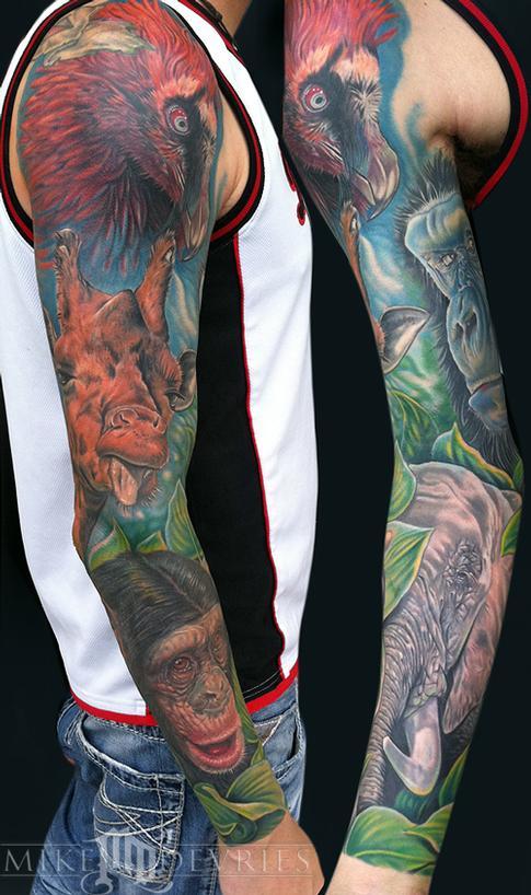 Tattoos - Animal Sleeve - 56219