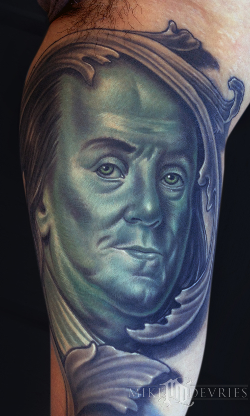 Tattoos - Ben Franklin Tattoo - 86843
