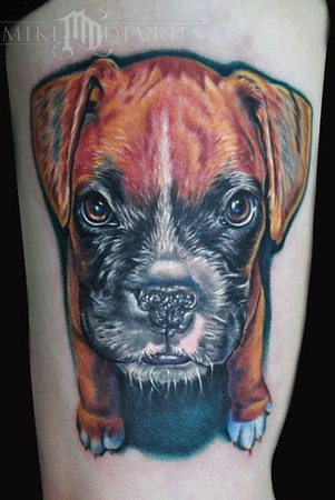 Mike DeVries - Dog Tattoo