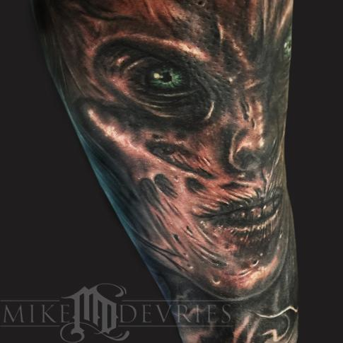 Mike DeVries - Evil Face Tattoo