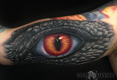 Tattoos - Reptilian Human Eye Tattoo - 89680