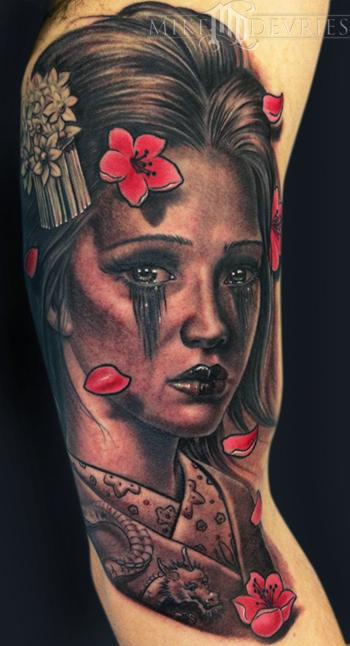 Tattoos - Geisha Tattoo - 60898