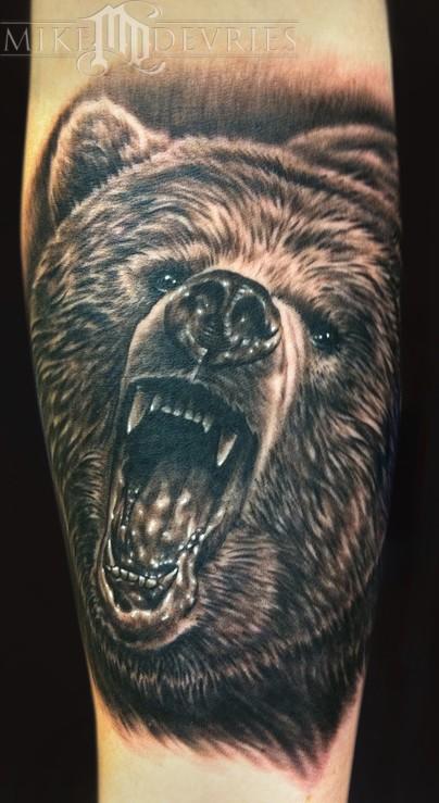 Tattoos - Grizzly Bear Tattoo - 51116