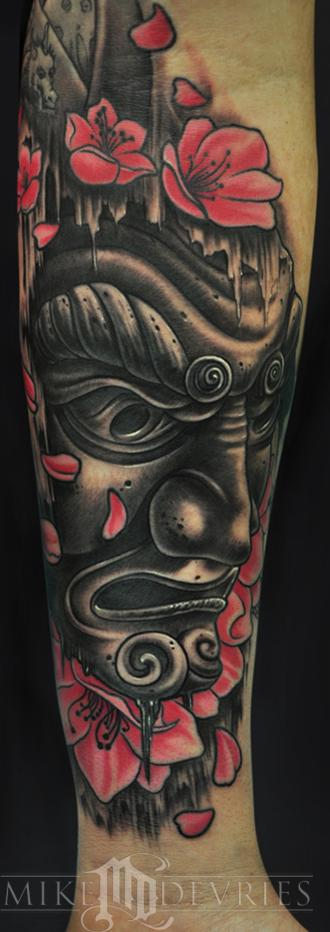 Mike DeVries - Japanese Mask Tattoo