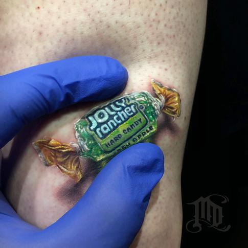 Mike DeVries - Jolly Rancher 3D Tattoo