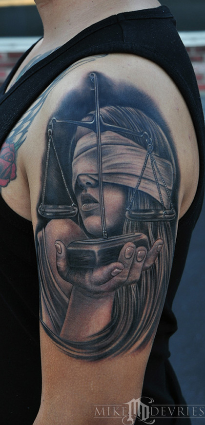 Tattoos - Lady Justice Tattoo - 69617
