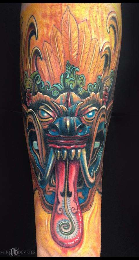 Tattoos - Leyak Mask Tattoo - 86847