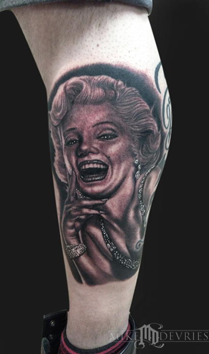 Mike DeVries - Marilyn Monroe Tattoo