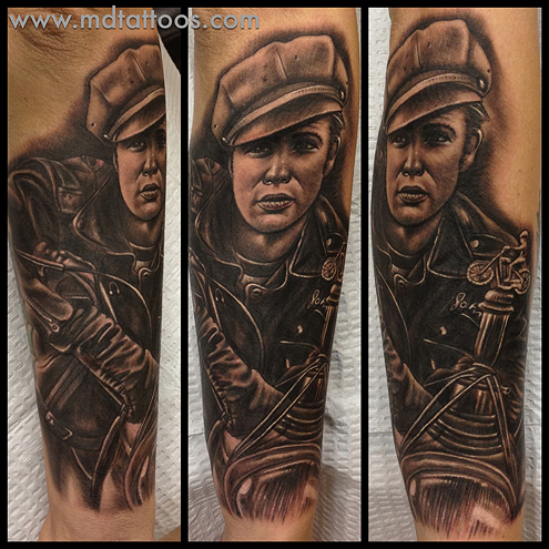 Tattoos - Marlon Brando Tattoo - 76281