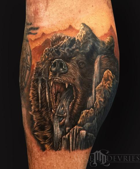 Tattoos - Mountain Bear Morph Tattoo - 106331