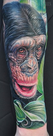 Tattoos - Monkey Tattoo - 45945