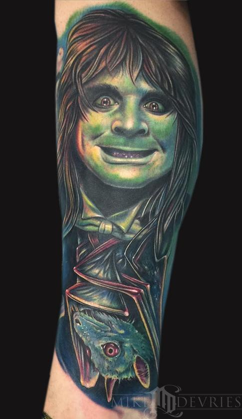 Tattoos - Ozzy Osbourne and Bat Tattoo - 106332
