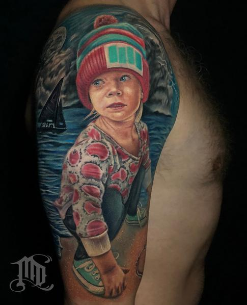 Mike DeVries - REALISTIC PORTRAIT TATTOO