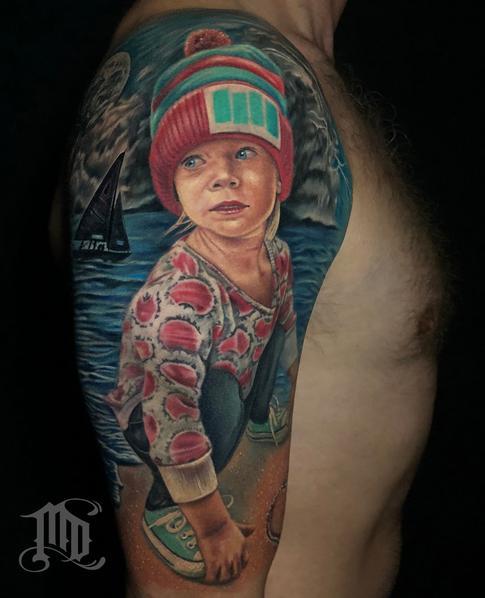 Tattoos - REALISTIC PORTRAIT TATTOO - 134122