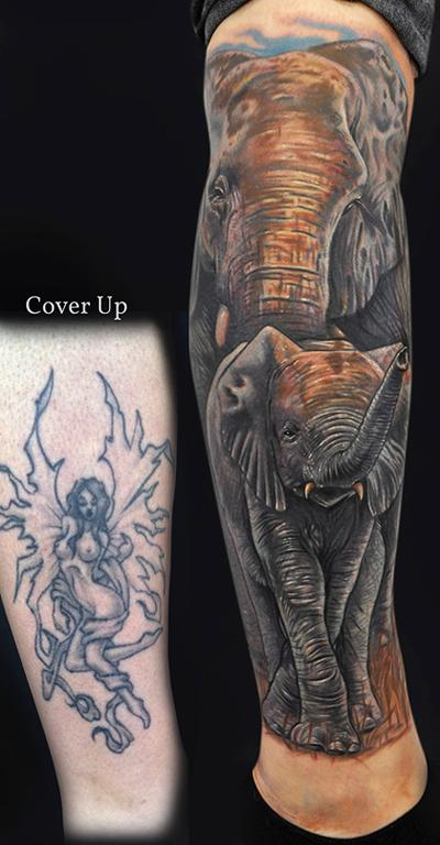 Tattoos - Elephant Tattoos - 62394