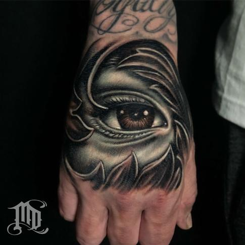 Tattoos - Eye Hand Tattoo - 134128
