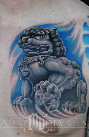 Tattoos - Foo Dog Tattoo - 36201