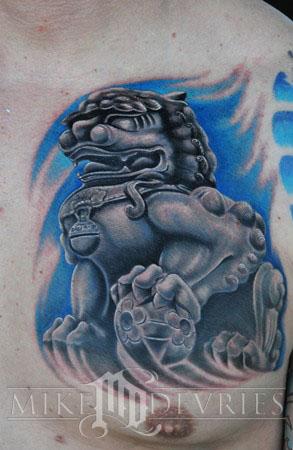Mike DeVries - Foo Dog Tattoo
