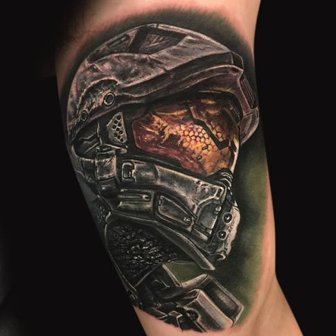 Tattoos - Halo Master Chief Tattoo - 129001