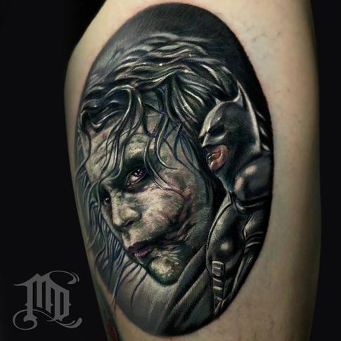 Mike DeVries - Heath Ledger Joker Tattoo