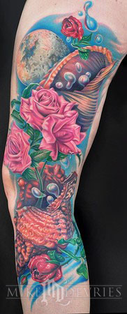 Tattoos - Shells and Roses - 39532