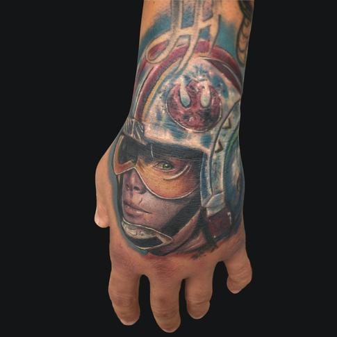 Mike DeVries - Luke Skywalker Hand Tattoo