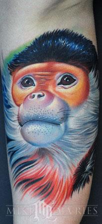 Mike DeVries - Monkey Tattoo