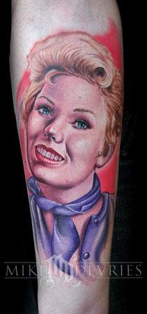 Mike DeVries - Portrait Tattoo