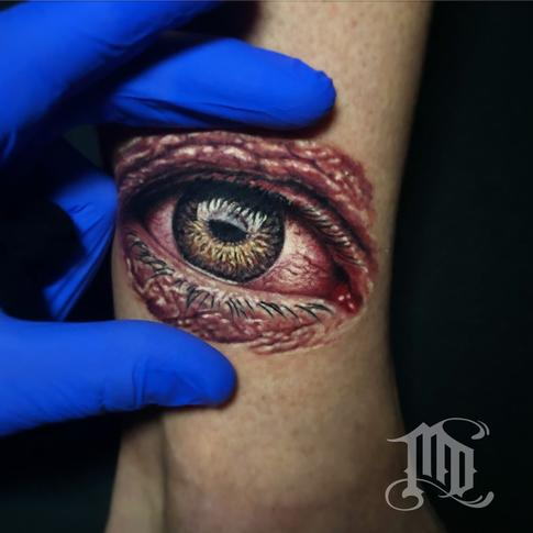 Mike DeVries - Mini Realistic Eye Tattoo