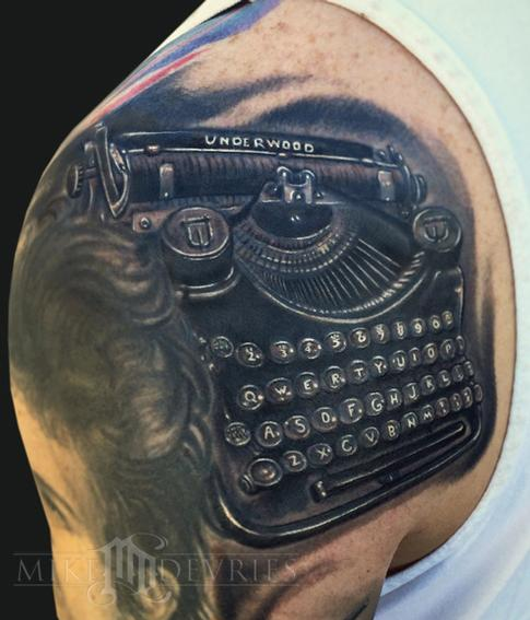 Tattoos - Typewriter Tattoo - 102462