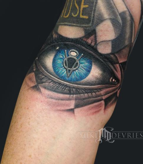 Tattoos - Vintage V8 Eye - 94391