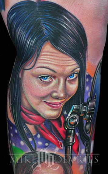 Mike DeVries - Meg White Tattoo