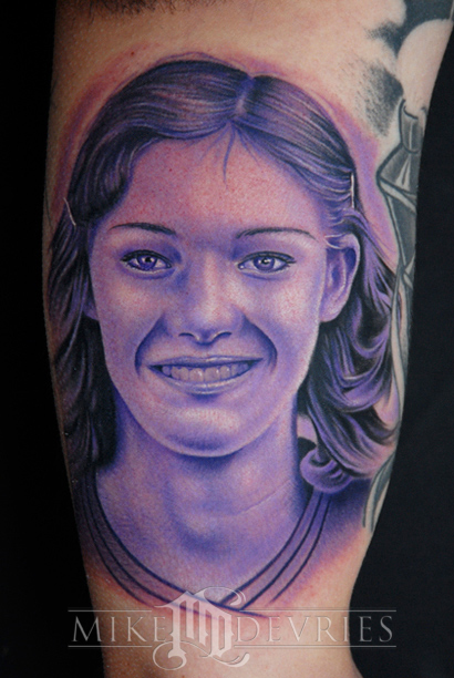 Tattoos - Monochromatic Portrait Tattoo - 24665