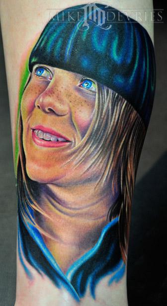 Mike DeVries - Shea Portrait Tattoo