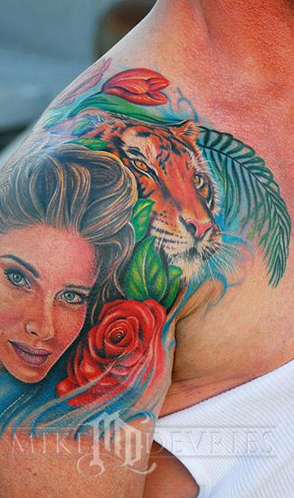 Mike DeVries - Stallone Tattoo
