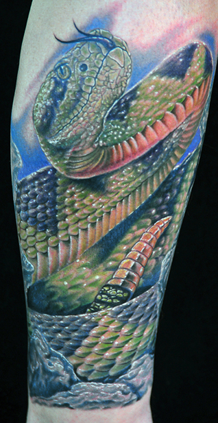 Mike DeVries - Snake Tattoo