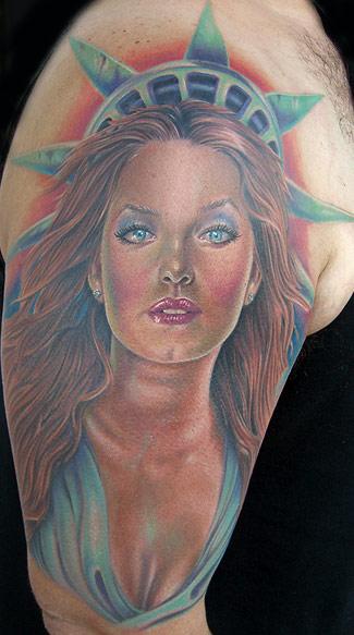 Tattoos - Lady Liberty Tattoo - 18873