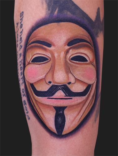 V For Vendetta By Daniel Chashoudian Tattoonow