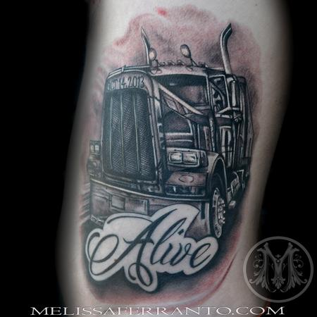 Melissa Ferranto - Semi Truck Tattoo