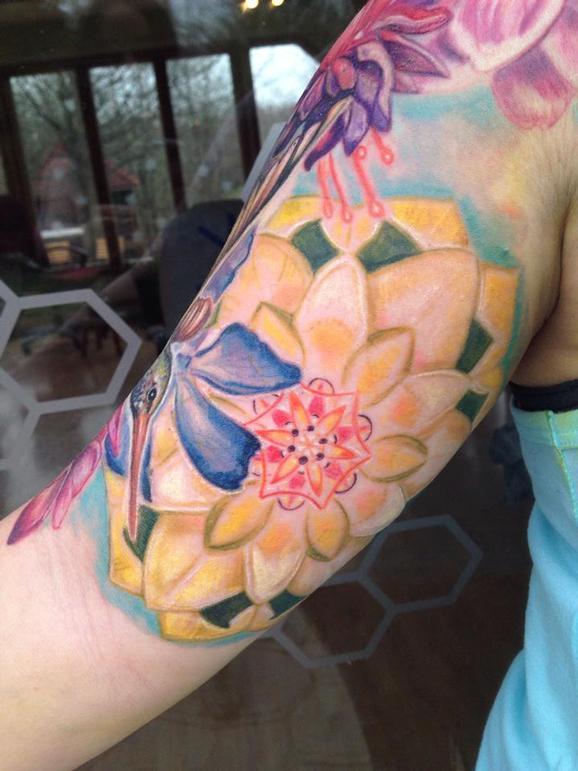 Michele Wortman - Jessicas inner arm mandala ( in progress)