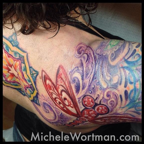 Michele Wortman - Dawns Jewel toned Filagree and mandala