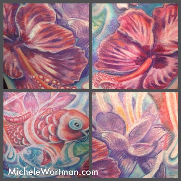 Michele Wortman - Yolandas Koi in Watergarden Splender