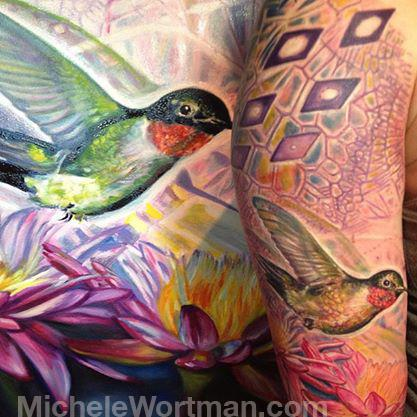 Michele Wortman - Innerstate painting to tattoo (crop)