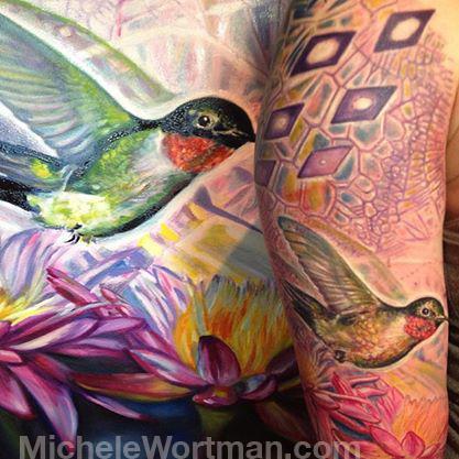 Michele Wortman - Innerstate painting to tattoo (crop)
