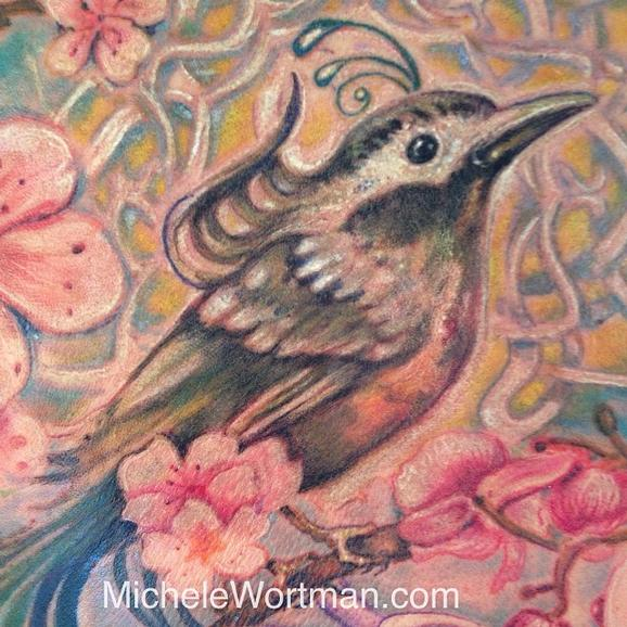 Michele Wortman - Sabrinas Woodland Window back piece to body set  (detail)