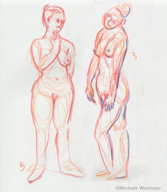 Michele Wortman - Palette&Chisel 2003  5min 3min sketch