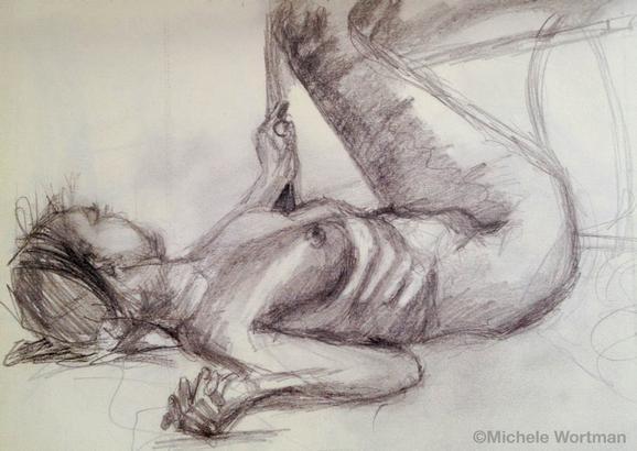 Michele Wortman - SAIC 1989 first long pose